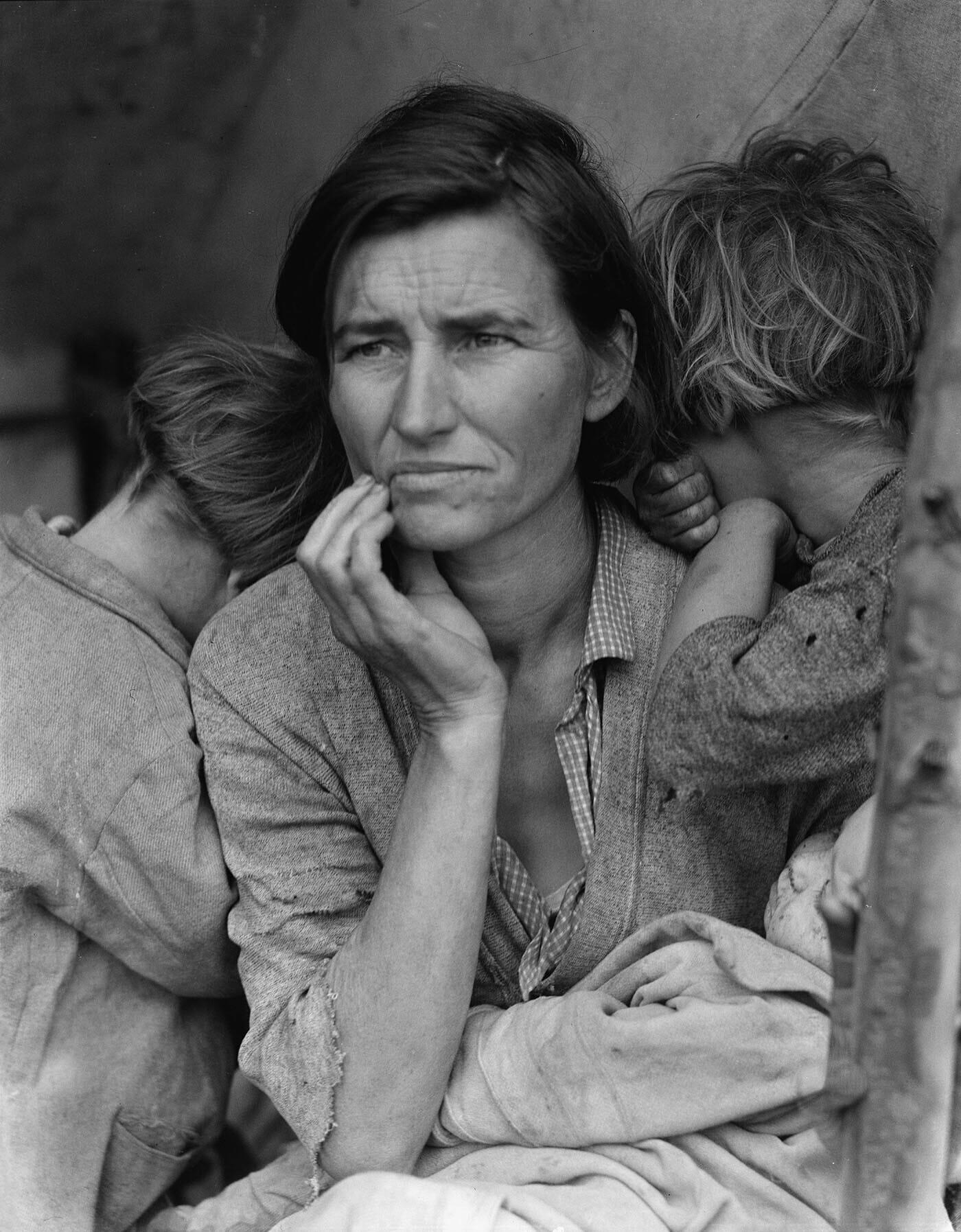 """""""Migrant Mother"""" di Dorothea Lange: simbolo della Grande Depressione"""