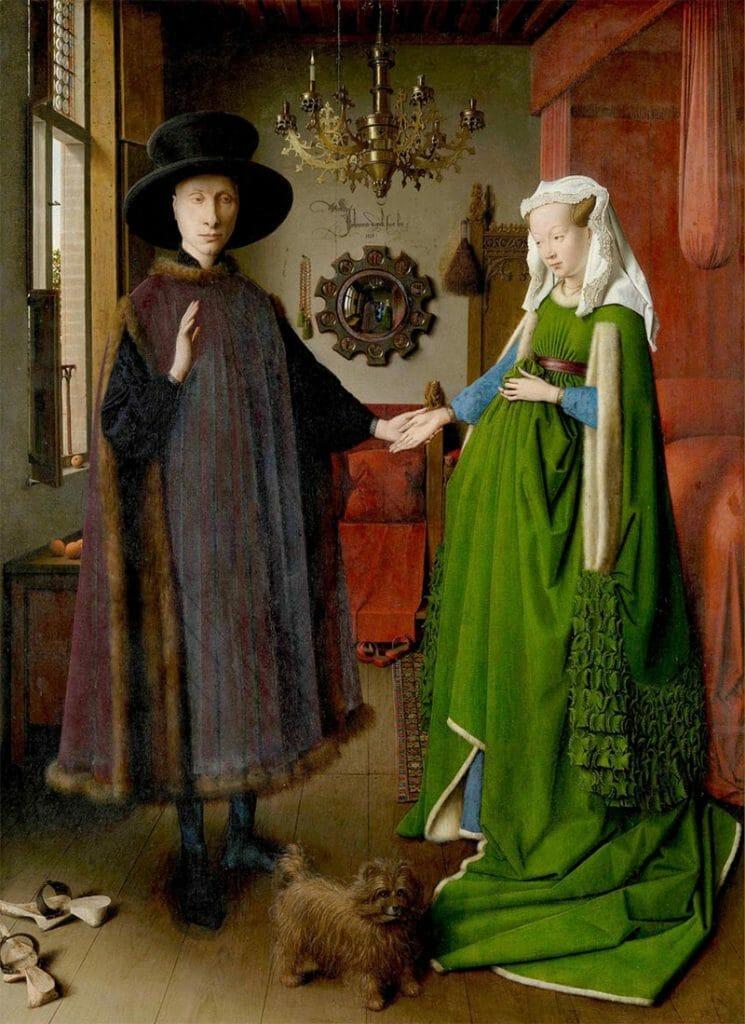 """""""I coniugi Arnolfini"""" di Jan Van Eyck: il nuovo colore"""