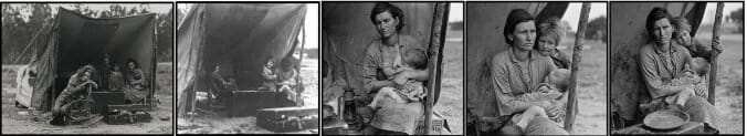 """Migrant Mother"" di Dorothea Lange"
