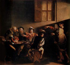 'Vocazione di San Matteo' di Caravaggio. L'incredulità terrena