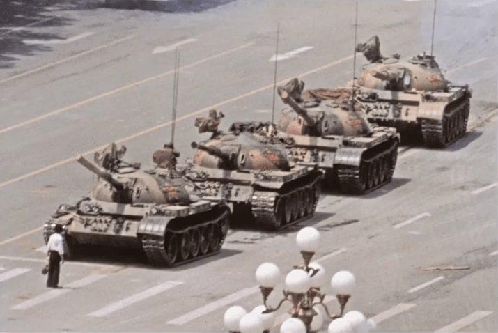 Il rivoltoso di Tienanmen di Jeff Widener
