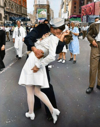 """""""V-J Day in Times Square"""" di Alfred Eisenstaedt"""