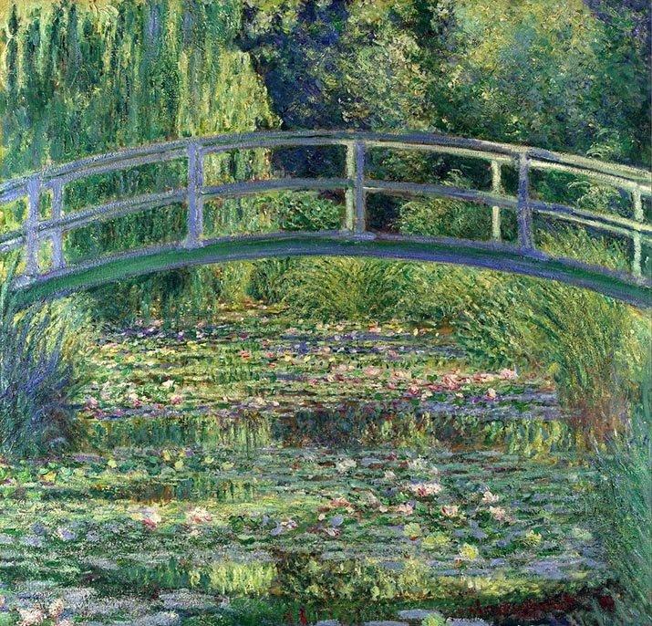 """""""Lo stagno delle ninfee, armonia verde"""" di Claude Monet. Un'oasi di pace"""