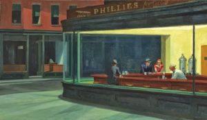 """""""Nighthawks – Nottambuli"""" di Hopper. Solitudine e vuoto"""
