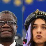 Premio Nobel per la pace a Nadia Murad e Denis Mukwege