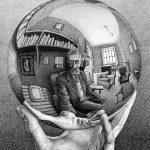 Escher mostra illusioni ottiche
