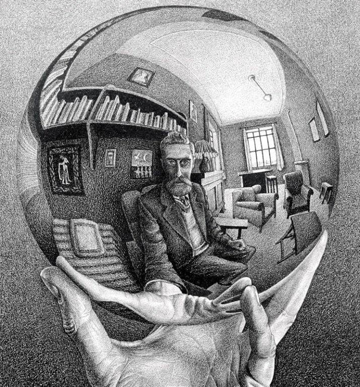 Escher mostra illusioni ottiche
