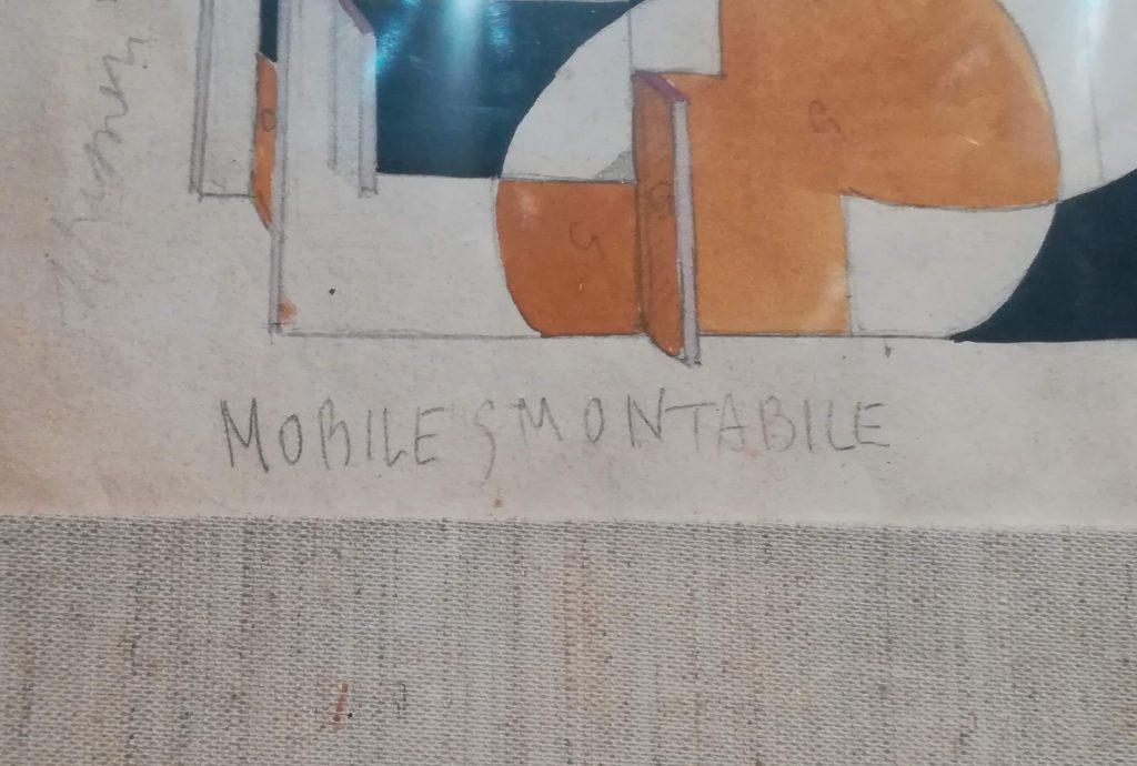 """particolare - """"Studio per mobile futurista"""""""
