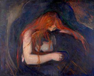 Vampiro di Edward Munch, il rosso di una donna misteriosa
