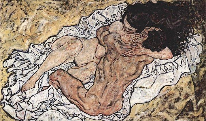 L'abbraccio o Gli amanti di Schiele
