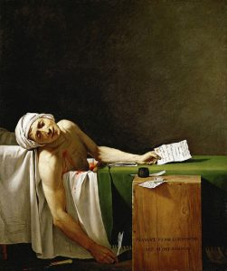 La morte di Marat, l'ultimo respiro colto da Jacques Louis David