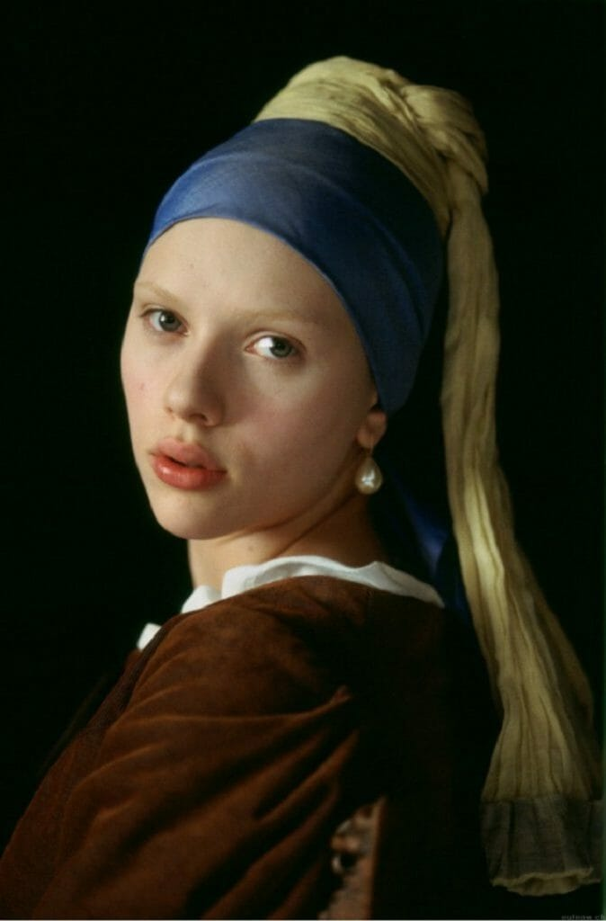 """""""Ragazza col turbante"""" di Jan Vermeer.La ragazza con l'orecchino di perla"""