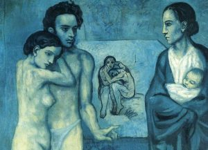 """""""La vie – La vita"""" di Pablo Picasso tra le dolorose piaghe del blu"""