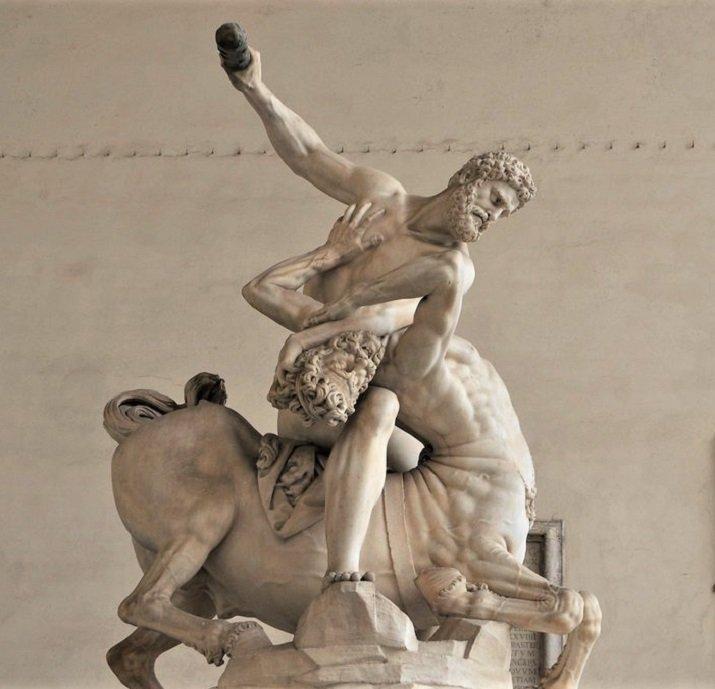 Ercole e il centauro Nesso di Giambalogna