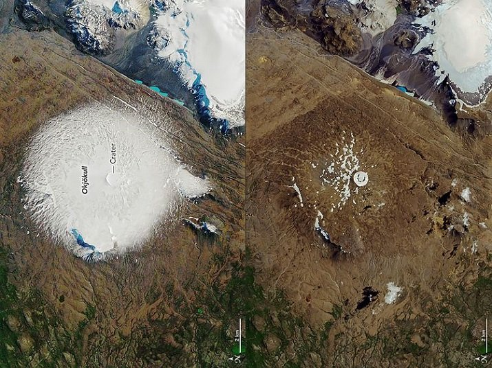 Okjökull ghiacciaio in Islanda. Lettera al futuro