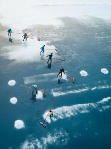 """Harvesting sea salt"" di Thien Nguyen"