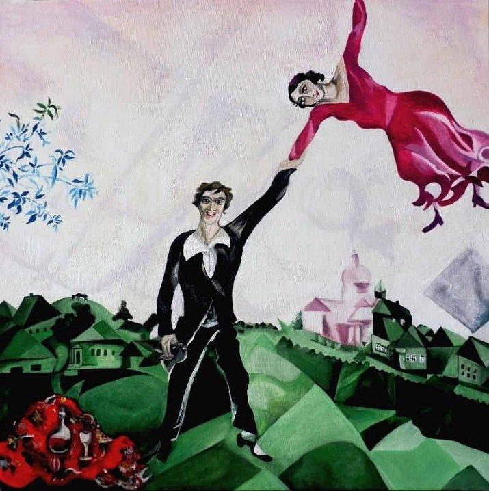 La passeggiata di Marc Chagall