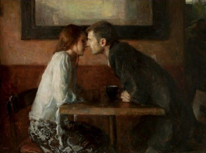 Kisses and Coffee di Ron Hicks