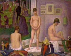 'Le modelle' di Georges Seurat. Dolcezza e poesia dai toni rosati
