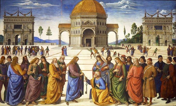 Consegna delle Chiavi di Perugino