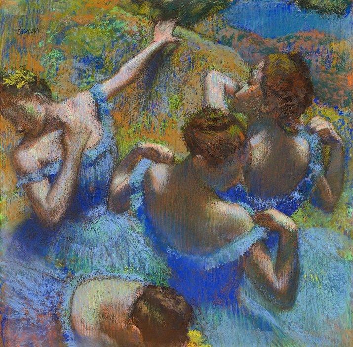 Quattro ballerine in blu di Edgar Degas