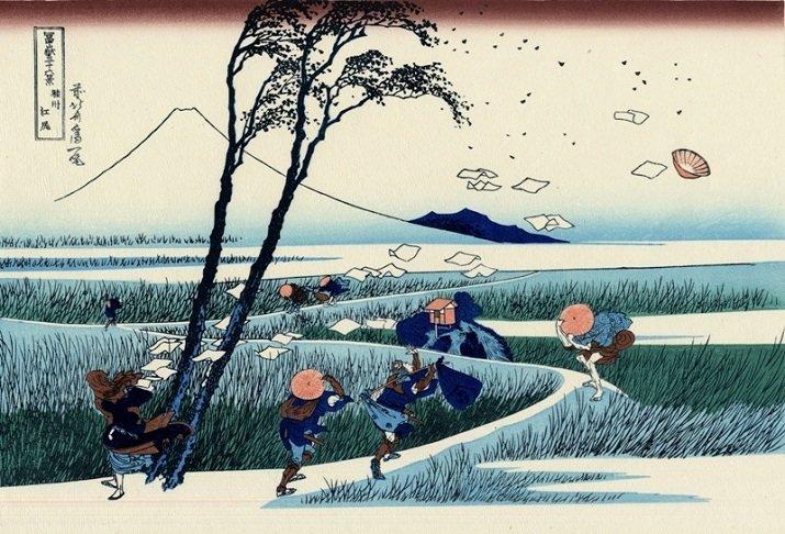 """""""Trentasei vedute del monte Fuji"""" di Hokusai"""