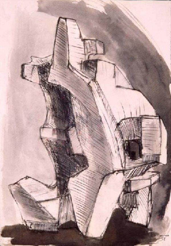 Studio per una scultura di Francesco Somaini