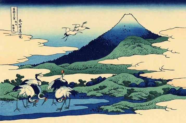 """Le """"Trentasei vedute del monte Fuji"""" di Hokusai. Umegawa nella provincia di Sagami"""