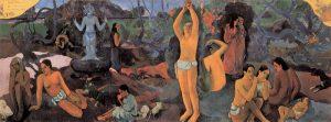 """""""Da dove veniamo? Chi siamo? Dove andiamo?"""" di Gauguin"""