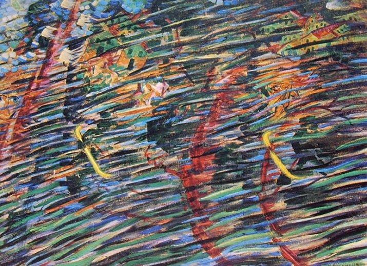 """""""Stati d'animo"""" di Boccioni. Quelli che vanno 1911"""