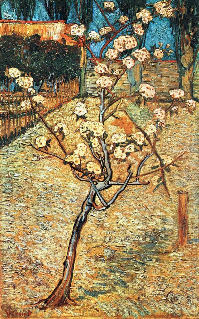 Gli alberi in fiore di van Gogh. Pesco in fiore