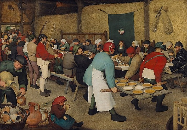 """""""Banchetto nuziale"""" di Pieter Bruegel il Vecchio"""