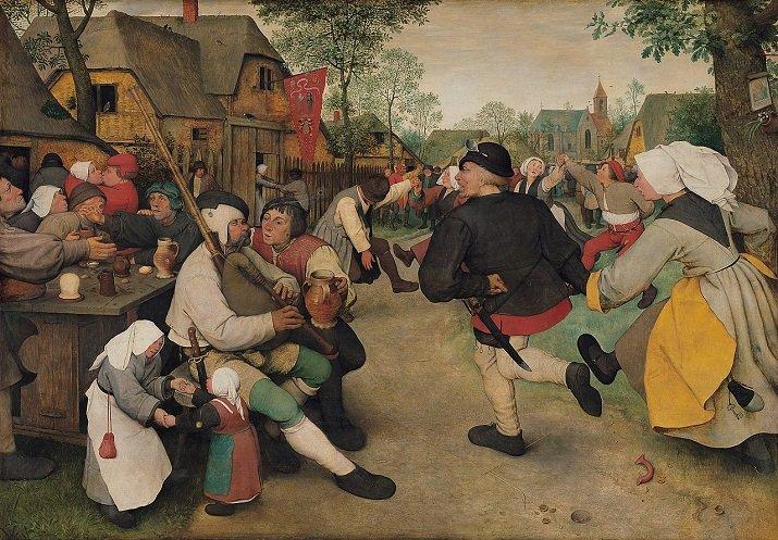 """""""Danza di contadini"""" di Pieter Bruegel il Vecchio"""