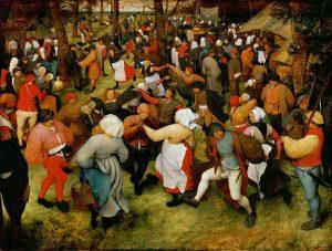 Le danze contadine di Pieter Bruegel il Vecchio. Arte che invita alla risata