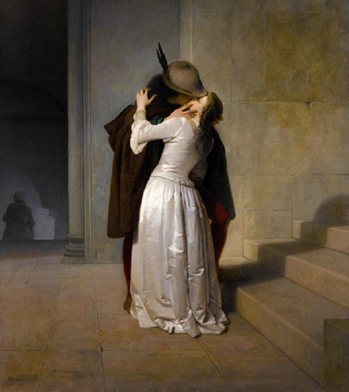 """""""Il bacio"""" di Hayez 1861"""