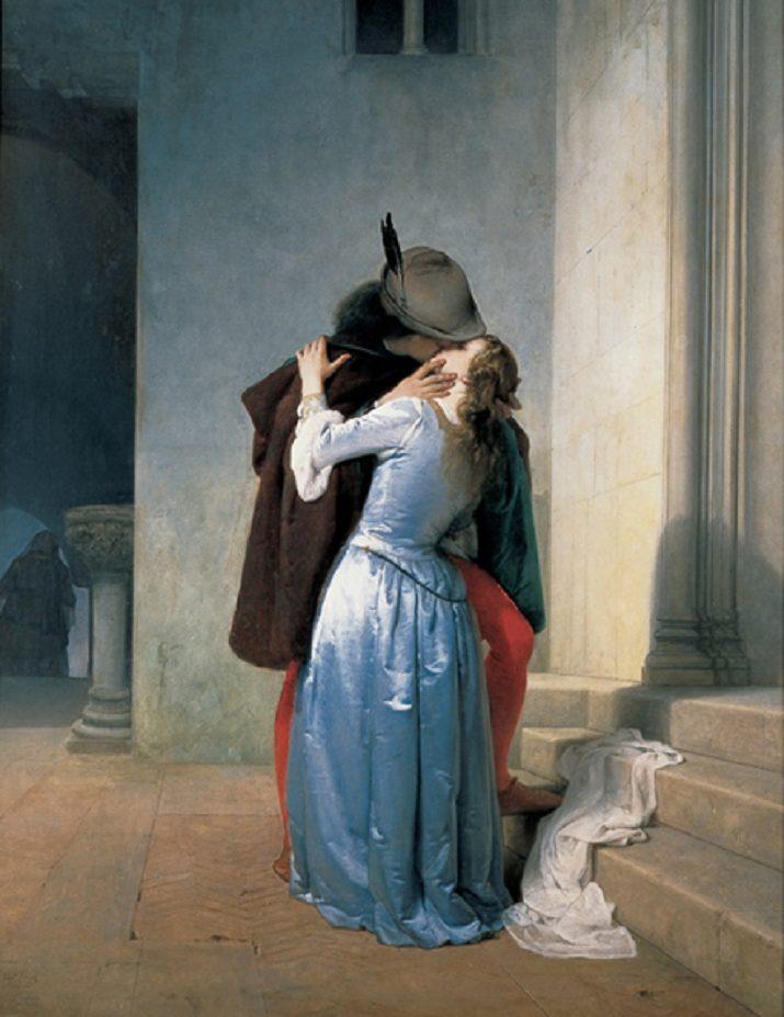 """""""Il bacio"""" di Hayez 1867"""
