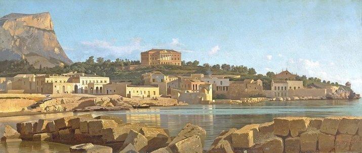 Veduta di Palermo dall'Acquasanta di Francesco Lojacono
