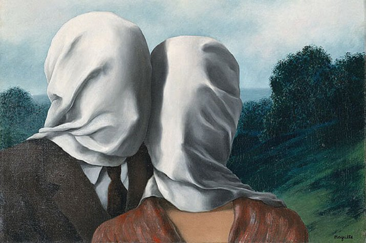 Les amants - Gli amanti di Magritte