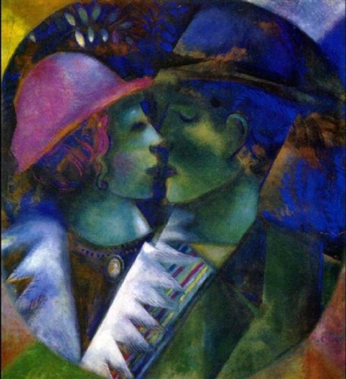 Gli amanti in verde di Chagall