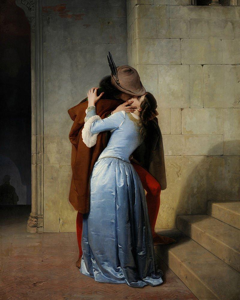 """""""Il bacio"""" di Hayez 1859"""