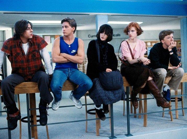 """""""The Breakfast Club"""" di John Hughes"""