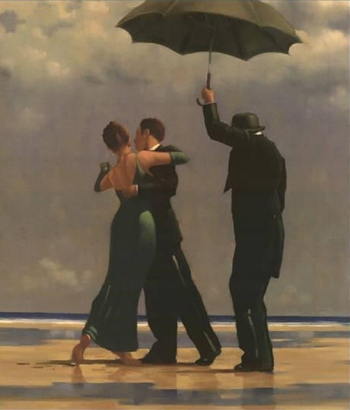 """Dancer in Emerald"" di Jack Vettriano"