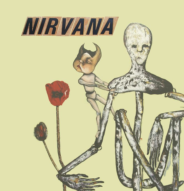 Incesticide dei Nirvana. Copertina di Kurt Cobain