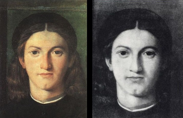 """""""Giovane che guarda Lorenzo Lotto"""" di Giulio Paolini"""