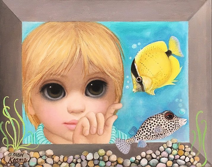 Big Eyes di Margaret Keane. Signed lemon butterflyfish