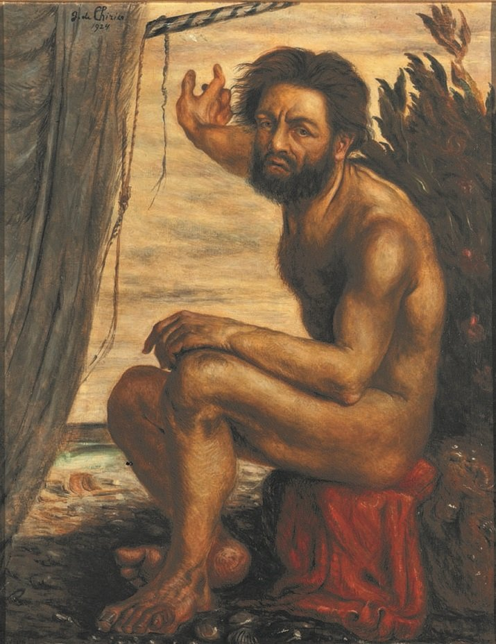"""""""Ulisse. L'arte e il mito"""" . Ulisse. Autoritratto come Odisseo di De Chirico"""