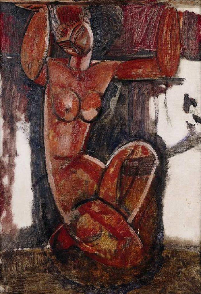 Le Cariatidi di Modigliani. Mademoiselle Grain De Café