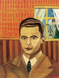 """""""Ritratto con finestra"""" di Antonio Ligabue, 1958"""