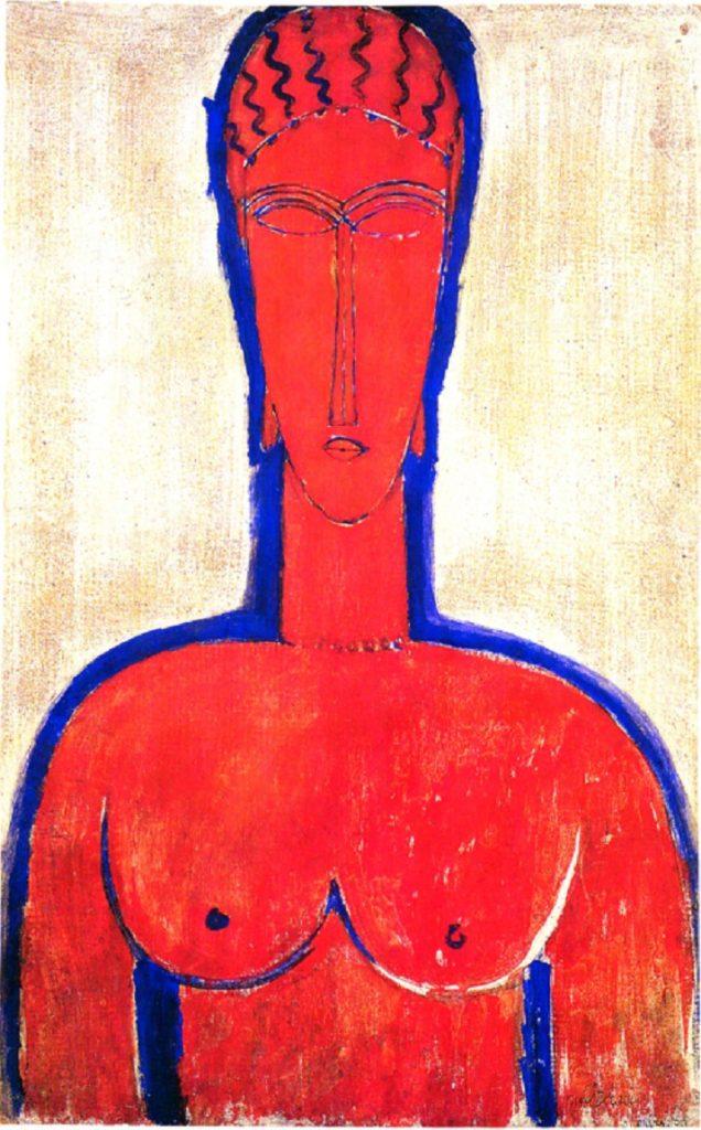 Il grande busto rosso