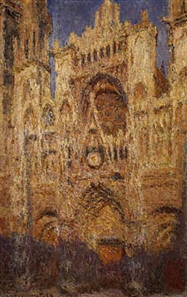 Cattedrale di Rouen di Monet. La sera